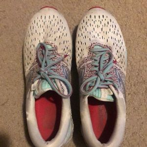 White Brooke's running shoes